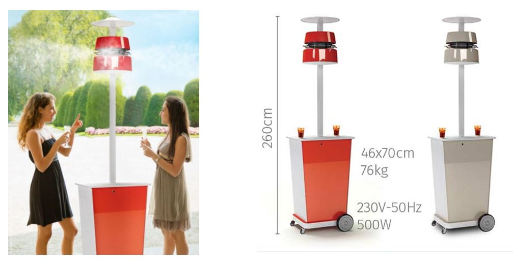 Atmosfera 360 portable misting fan